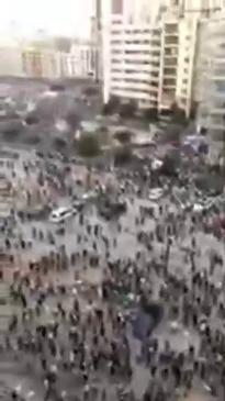 Beirut Protesters Enter Economy Ministry, Smash Portrait of President