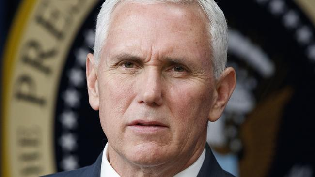 Vice President Mike Pence will meet with Australian Prime Minister Malcolm Turnbull on April 22. Picture: AP