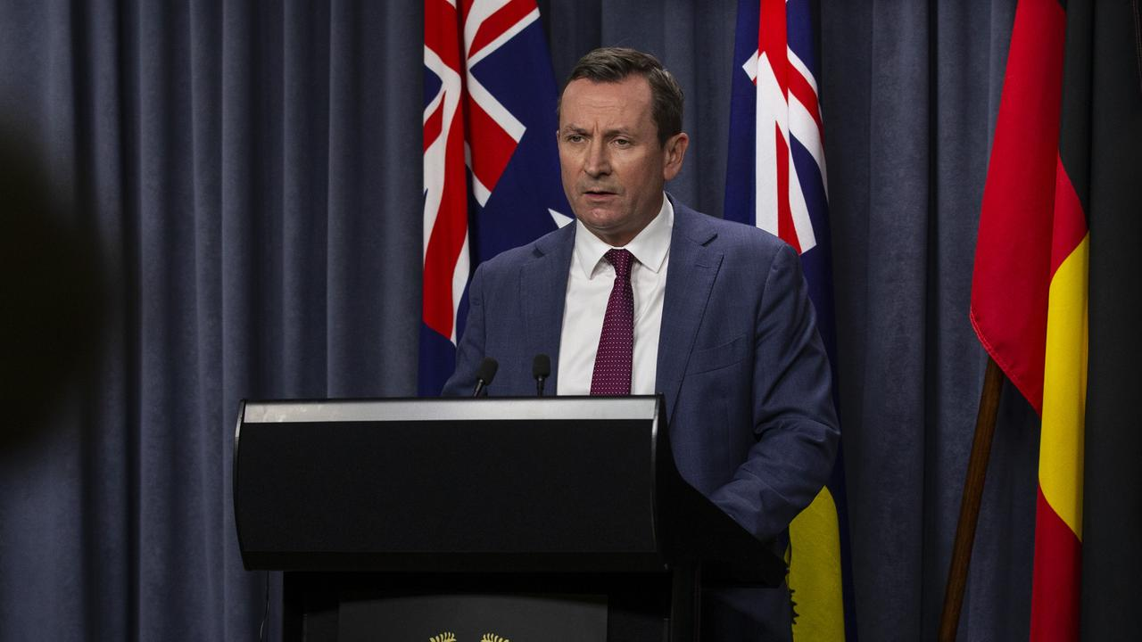 Premier Mark McGowan announced Western Australia would be entering a three-day lockdown. Picture: Getty