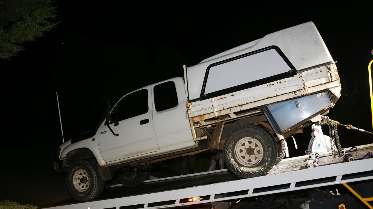 Evans vehicle which fatally struck Alicia (above) being impounded by police in December 2017. Picture Andrew Tauber.