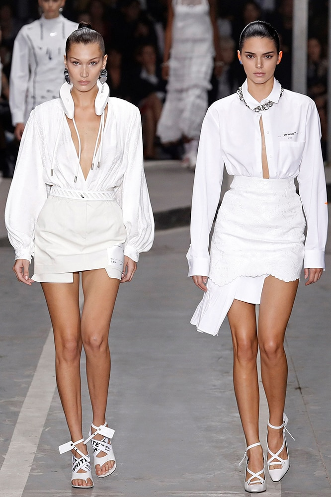 Kendall Jenner and Bella Hadid step out with a twinning ab reveal