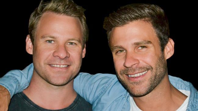 Ryan Martin (right), with brother Josh.