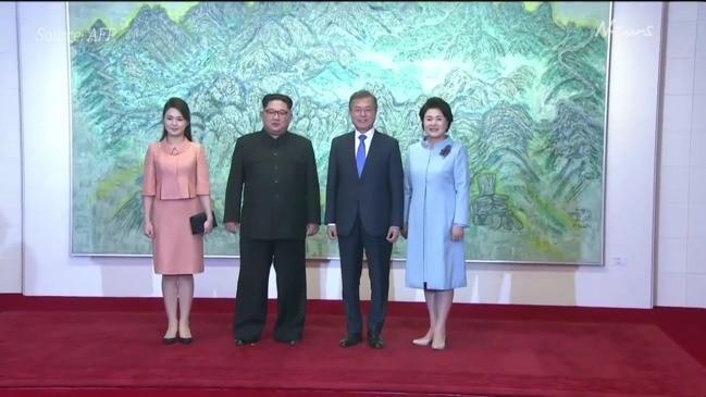Kim Jong-un's wife Ri Sol Ju arrives for post-summit banquet