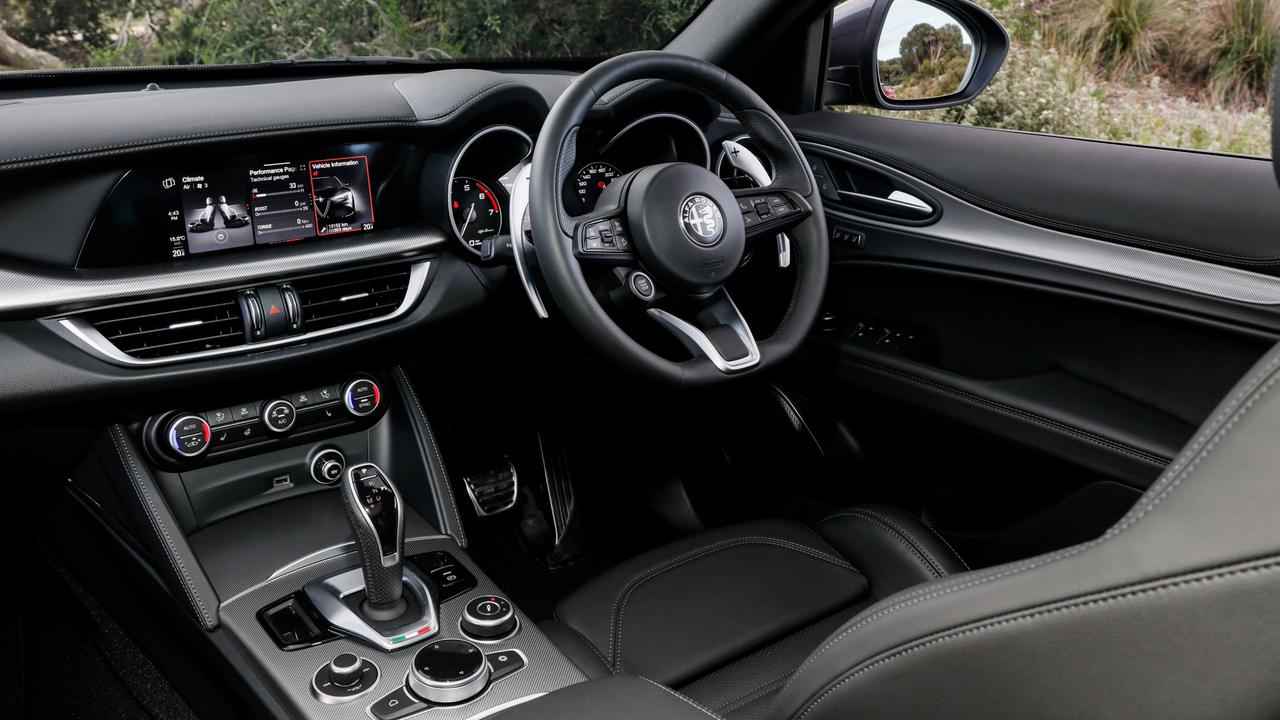 Inside the Stelvio has benefitted from improved materials and added luxury equipment.