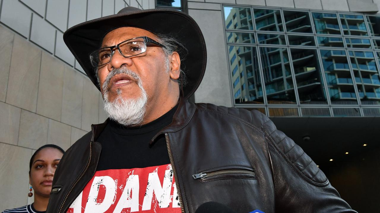 Adrian Burragubba outside the Federal Court in Brisbane, Friday, August 17, 2018. Picture: Darren England/AAP
