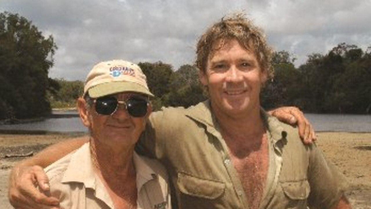 Best mates: Bob Irwin and his son Steve.