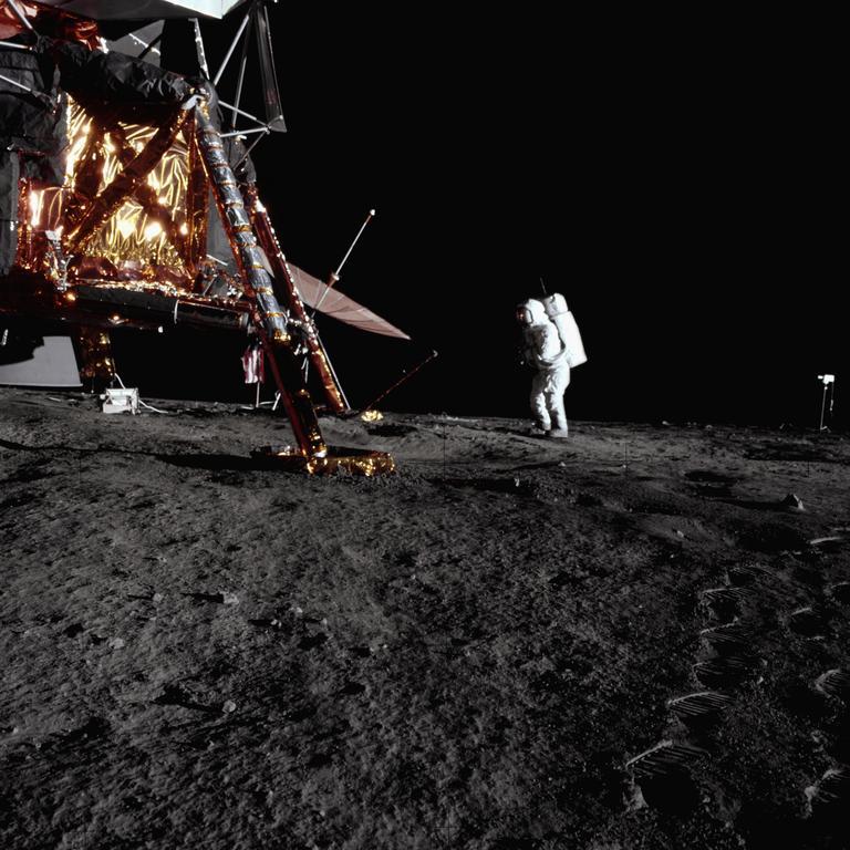 Apollo 12 landing. Location: Oceanus Procellarum, Moon. Picture: NASA/Corbis/Getty Images