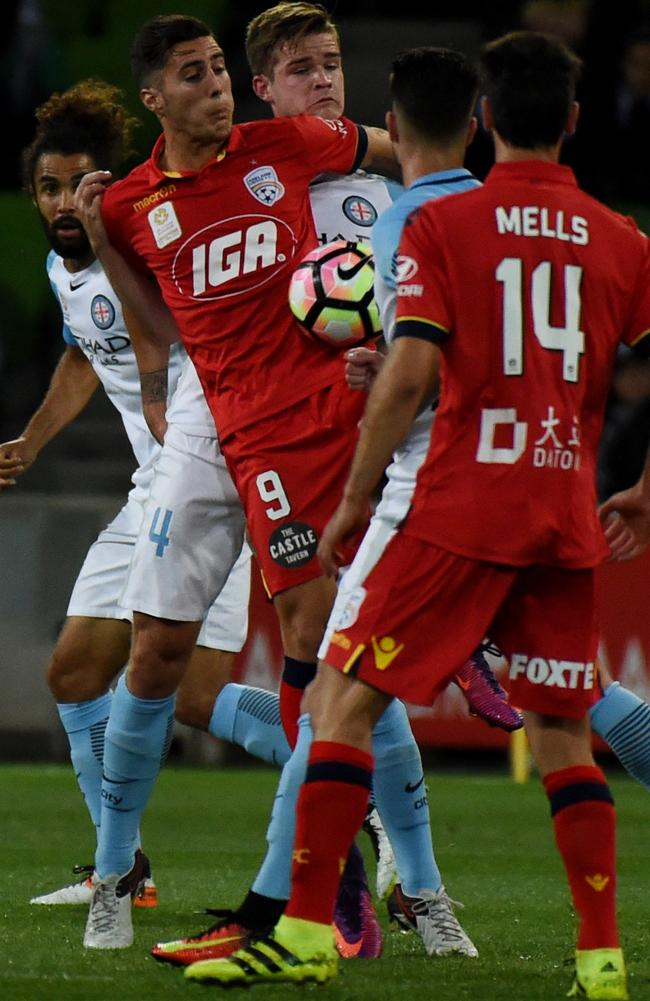 The A-League's physical approach has rattled Sergi Guardiola.