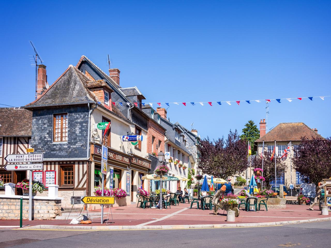 Cambremer, picturesque village in Normandy, in France