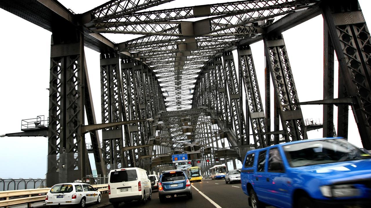 Traffic crossing Sydney Harbour Bridge.