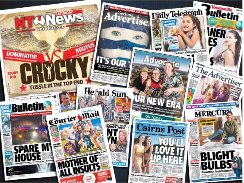 NT News subscription front pages art