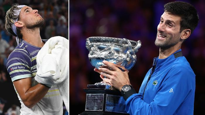 Dominic Thiem has to try and stop 'The King of Australia' Novak Djokovic in his first Australian Open final.