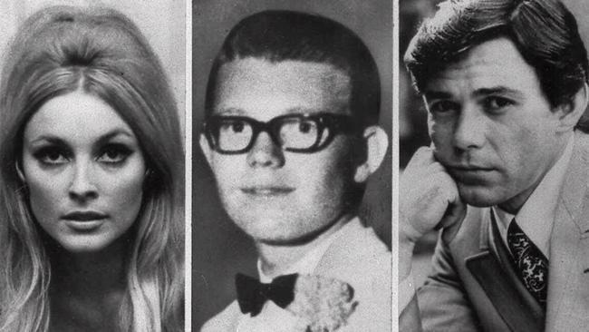 Three of the victims found murdered at the house, from left, Sharon Tate, Stephen Parent and Jay Sebring. Picture: AP.