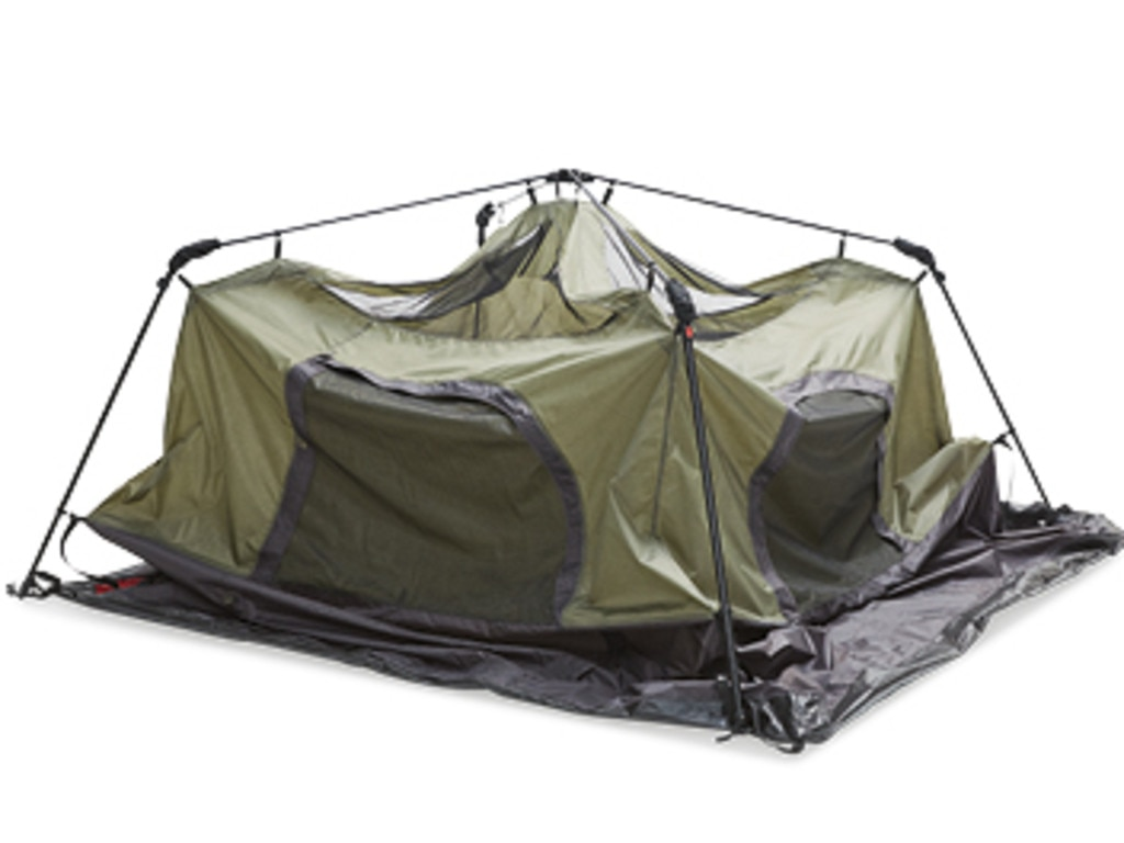 The six-person tent is 3m wide and nearly 2m high