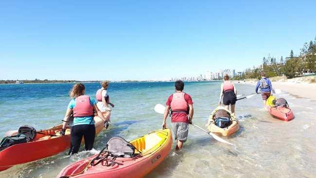 7/19Wave Break Island kayak tourJoin a five-hour Join a five-hour Chill Out Kayak Tour  and paddle to Wave Break Island for the ultimate beach picnic. A family of four costs $190. Picture: instagram/@seawaykayakingtours