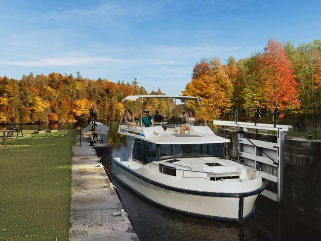 PILOT A RIVER CANAL CRUISE, ONTARIO No cruising experience? No worries! Le Boat provides luxury houseboat rentals and instruction for a self-guided cruise down Ontario's historic Rideau Canal — a UNESCO World Heritage site and North America's oldest operating canal system. Travel at your own pace, fish, picnic and visit the many charming canal-side villages en route to Canada's capital city, Ottawa.                   — Alissa Jenkins
