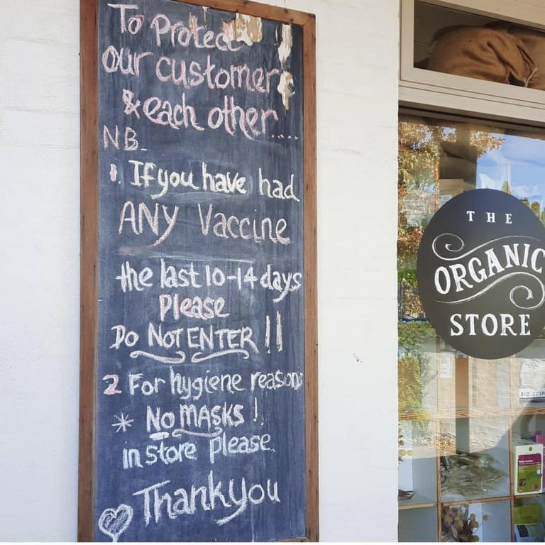 A sign out the front of the store. Picture: Instagram