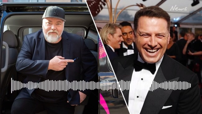 Kyle Sandilands reads out his 'filthy' text message to Karl Stefanovic (KIIS FM)