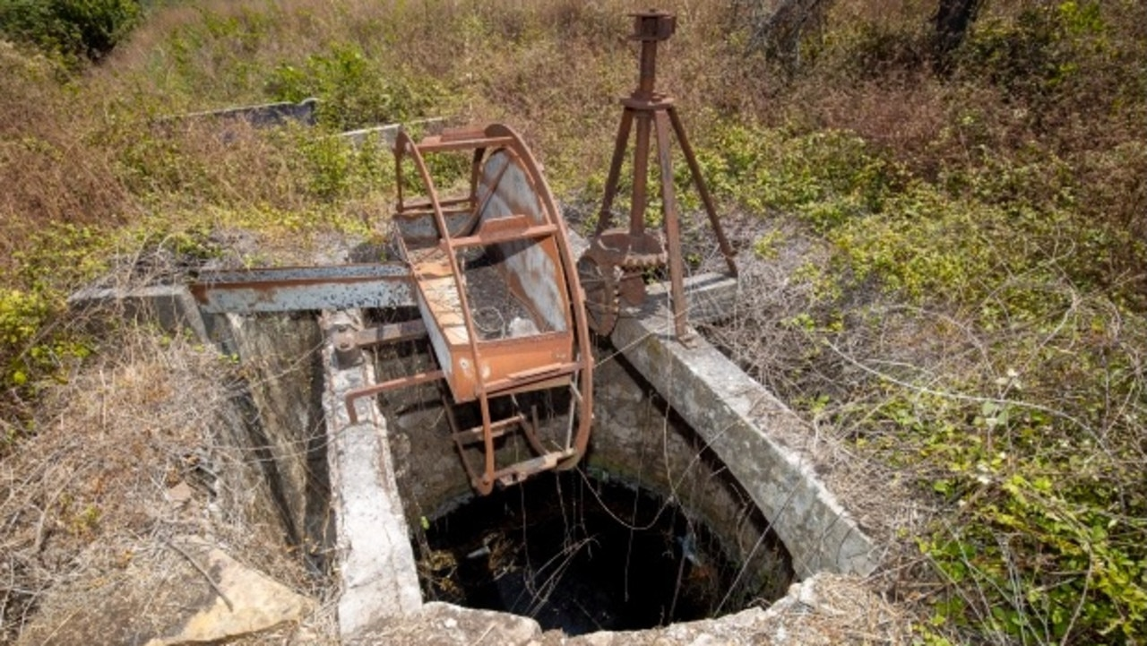 One of the disused wells that authorities were searching. Picture: Doug Seeburg/The Sun
