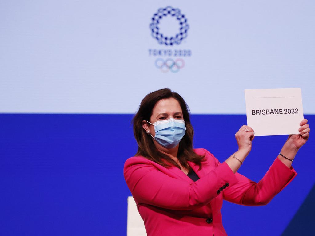 Queensland Premier Annastacia Palaszczuk was awarded the Olympics bid on Wednesday. Picture: Toru Hanai/AFP