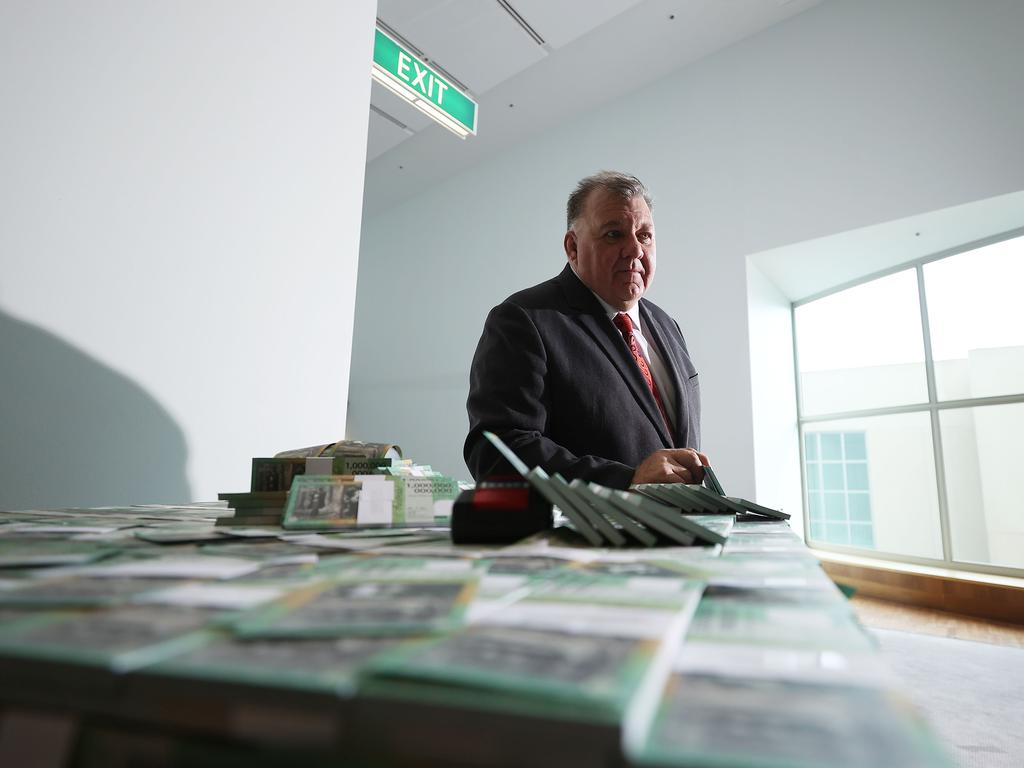 Craig Kelly Presser said the notes would be expensed out of his taxpayer funded printing account. Picture: NCA NewsWire / Gary Ramage