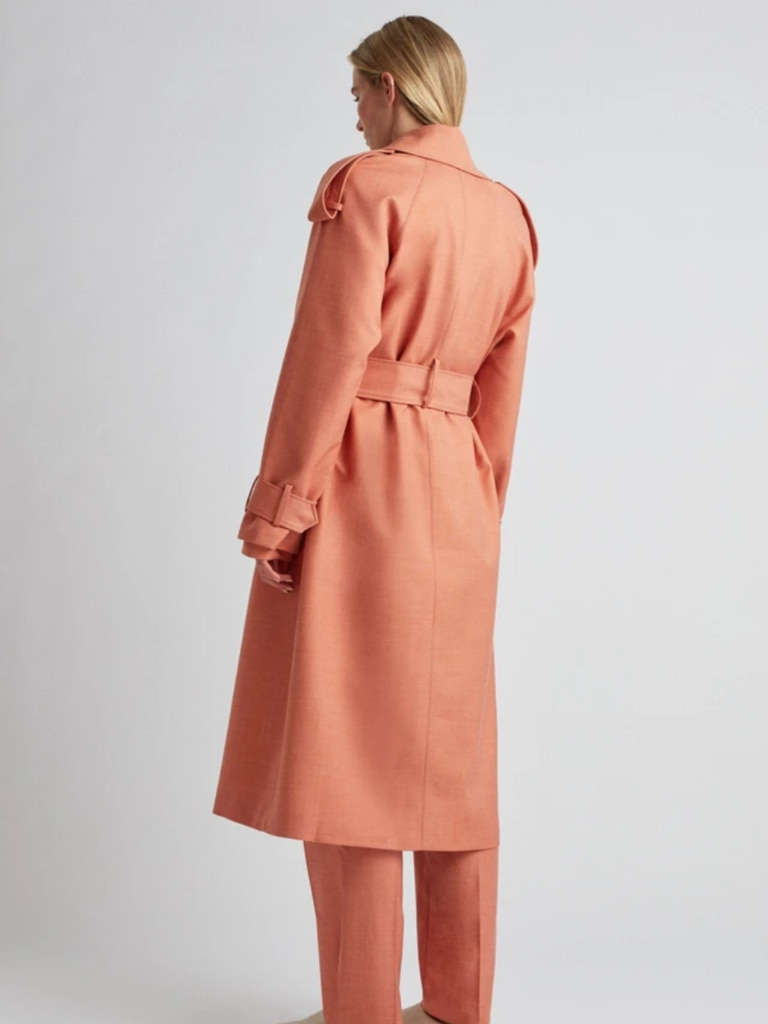 Marley Trench Coat, back. Image: Camilla and Marc.