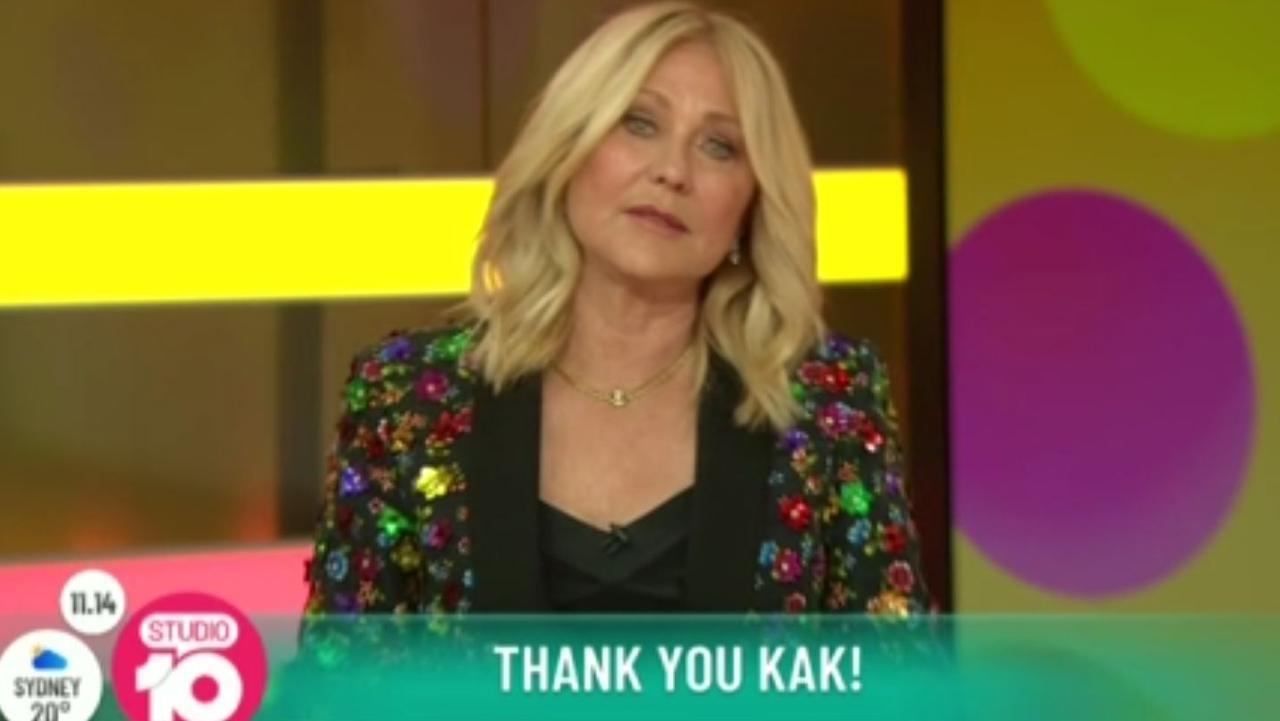 Kerri-Anne bid goodbye to Ten.