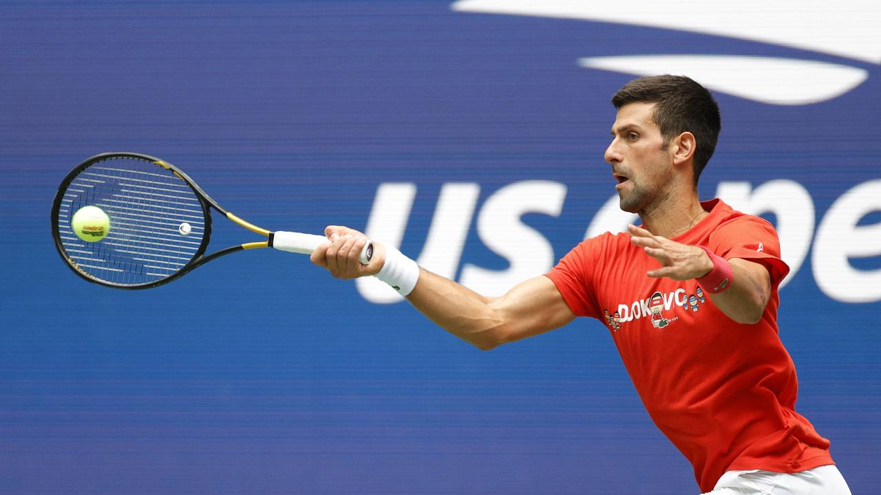 Novak Djokovic is not vaccinated Picture: Sarah Stier/Getty Images/AFP
