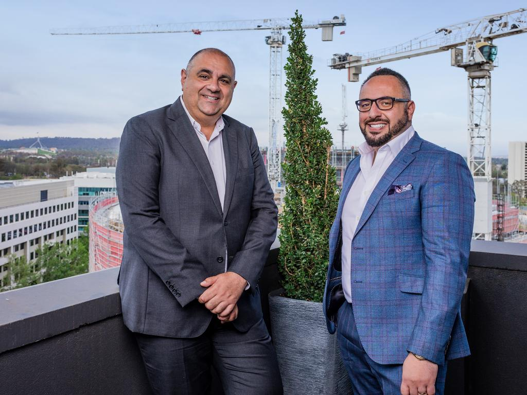 The Agency, Matt Lahood (L) has announced plans to push into the Canberra market with Peter Micalos (R) at the helm. Supplied