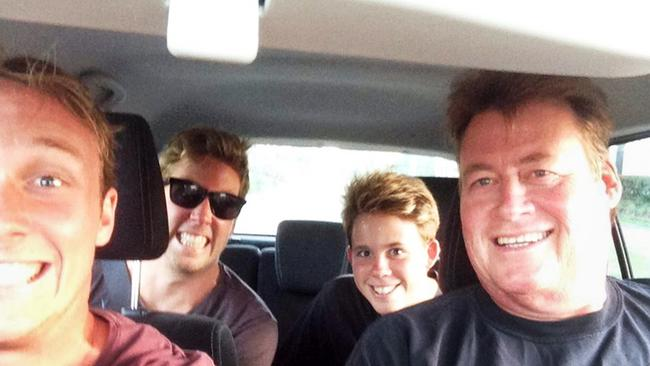 Cole Miller (back seat right) with family. Cole died after an assault in Fortitude Valley. Picture: Supplied.