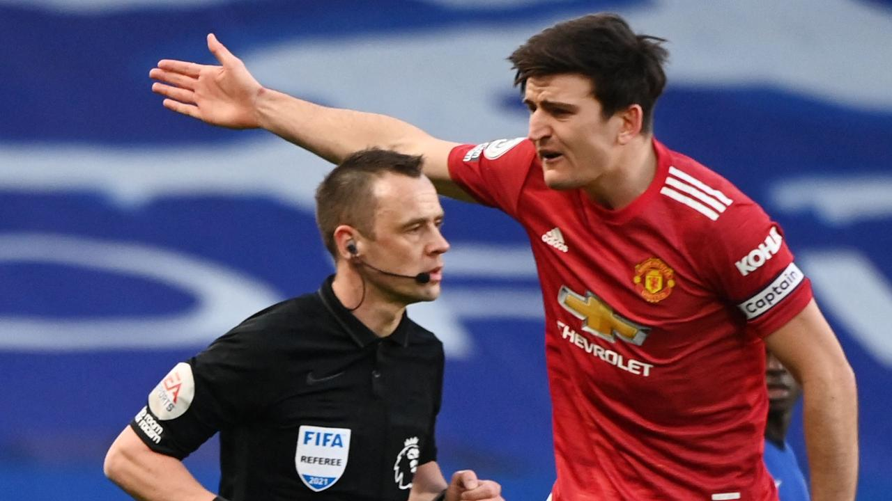 Manchester United and Chelsea were also caught up in a handball controversy. (Photo by Andy Rain / POOL / AFP)