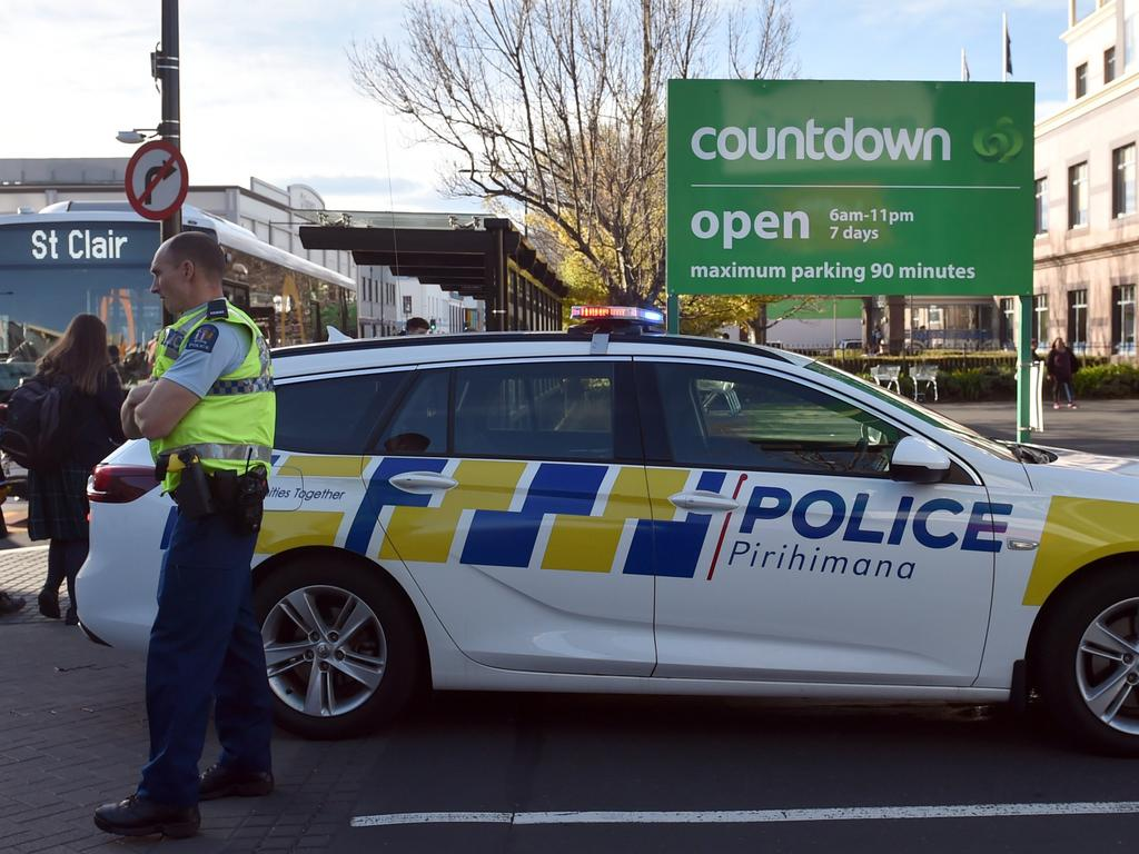 Police at the supermarket. Picture: Otago Daily Times/Peter McIntosh