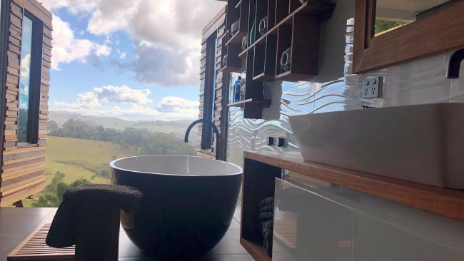 10/20Stargazer, Beechmont QLD Soak in a stone bath as you watch the sunset over the horse pastures of this Gold Coast property. It's perfect for friends, with a pizza oven and outdoor fireplace. See also: Top hikes and walks in Queensland