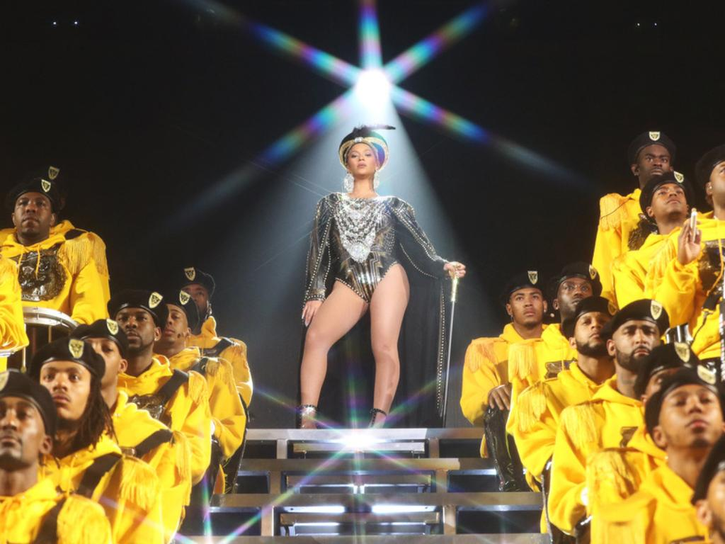 Queen Bey's high school homecoming-themed headline set at Coachella last year was a huge moment. Picture: Parkwood Entertainment/Netflix via AP