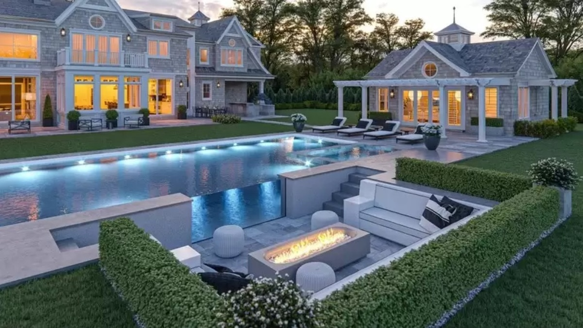 Relax poolside in front of the fire pit during the evening. Picture: Realtor