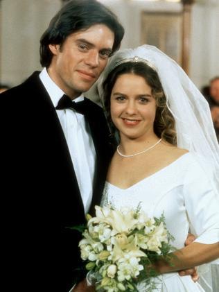 Angus and Karen on their wedding day.