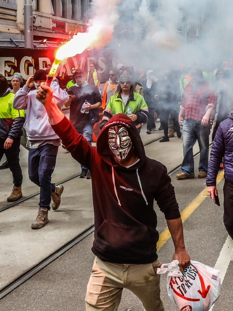 Protesters have engaged in violence and chaos for days. Picture: Getty Images