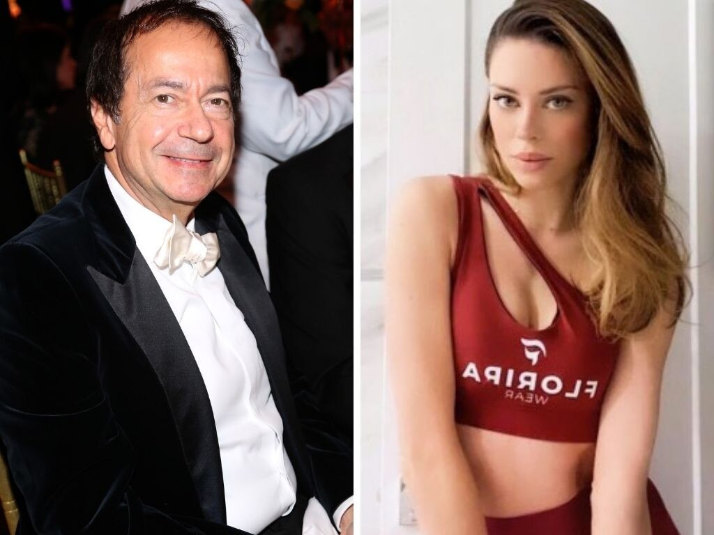 John Paulson is dating dietician Alina de Almeida, less than half his age. Pictures: Getty; Instagram