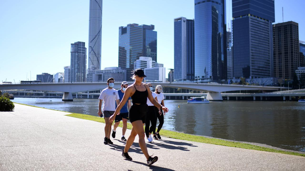 Brisbane has been plunged into lockdown. Picture: NCA Newswire / Dan Peled