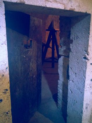 Still standing: The entrance to a torture room.