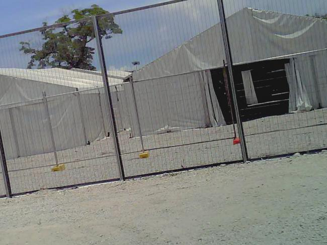 The processing centre is behind fences. Picture: Supplied