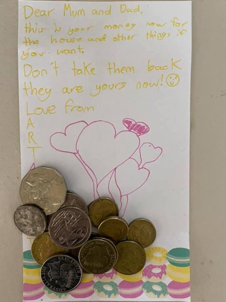 Abigail's letter. Picture: Facebook