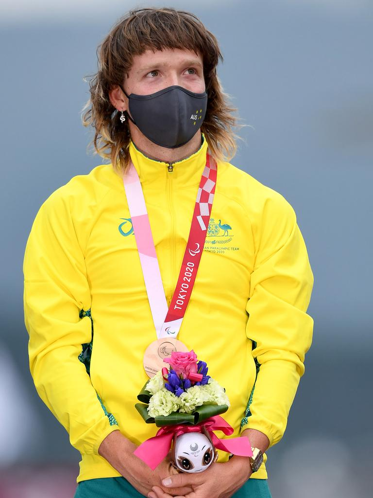 Donohoe says he's on the podium when it comes to best mullet too. Picture: Paralympics Australia