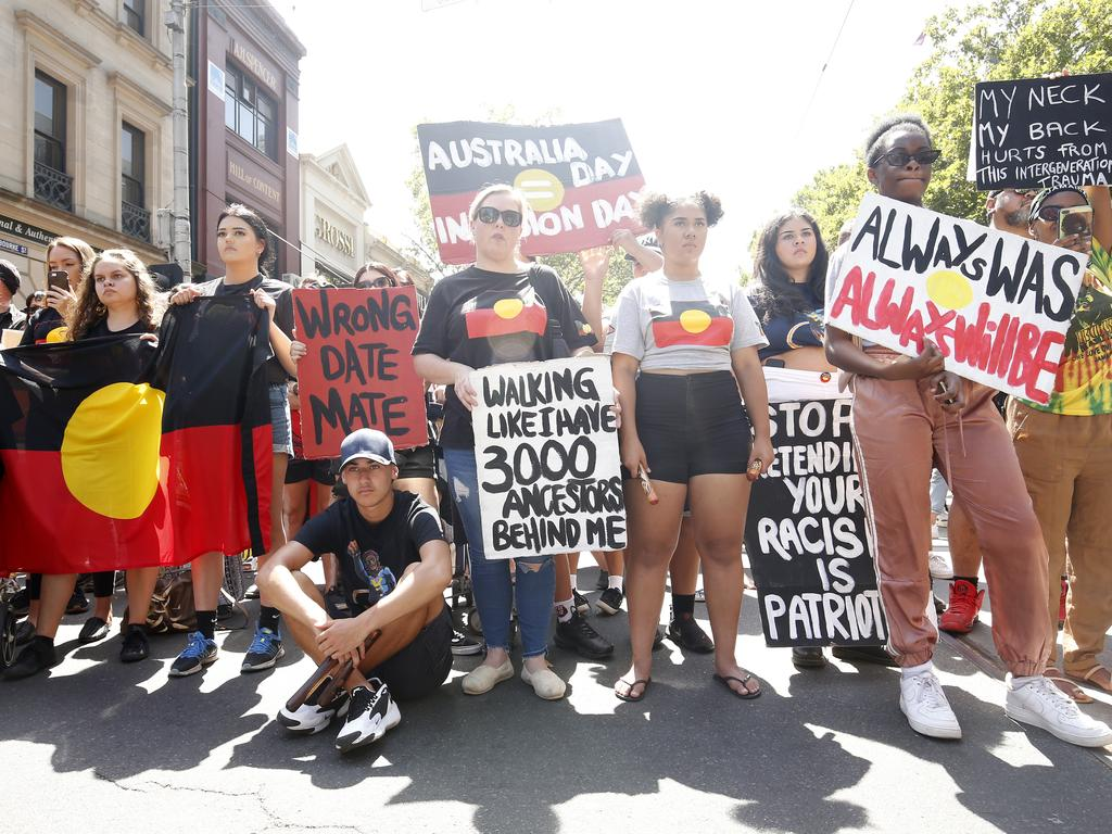 Thousands of people attend the' rally in Melbourne. Picture: Darrian Traynor/Getty Images
