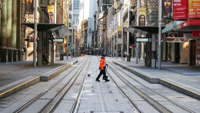 Sydney CBD looking like a ghost town on Sunday during coronavirus lockdown. Picture: NCA NewsWire / Gaye Gerard