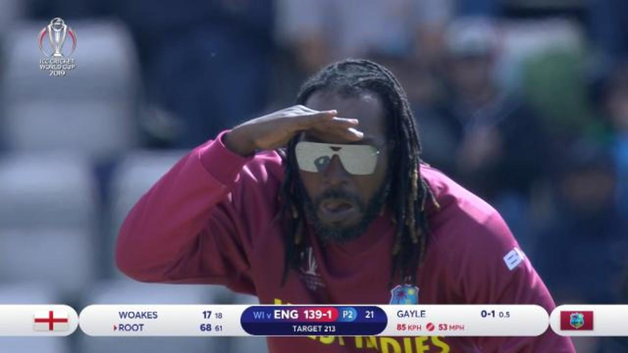 Gayle's amusing bowling spell