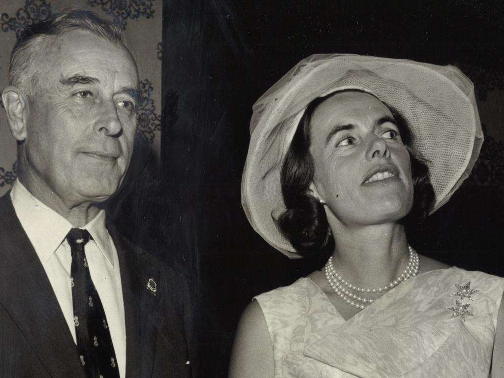 Mountbatten with his daughter Patricia Lady Brabourne in Australia in 1965. Picture: News Archives