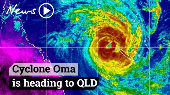 Cyclone Oma is heading towards Queensland