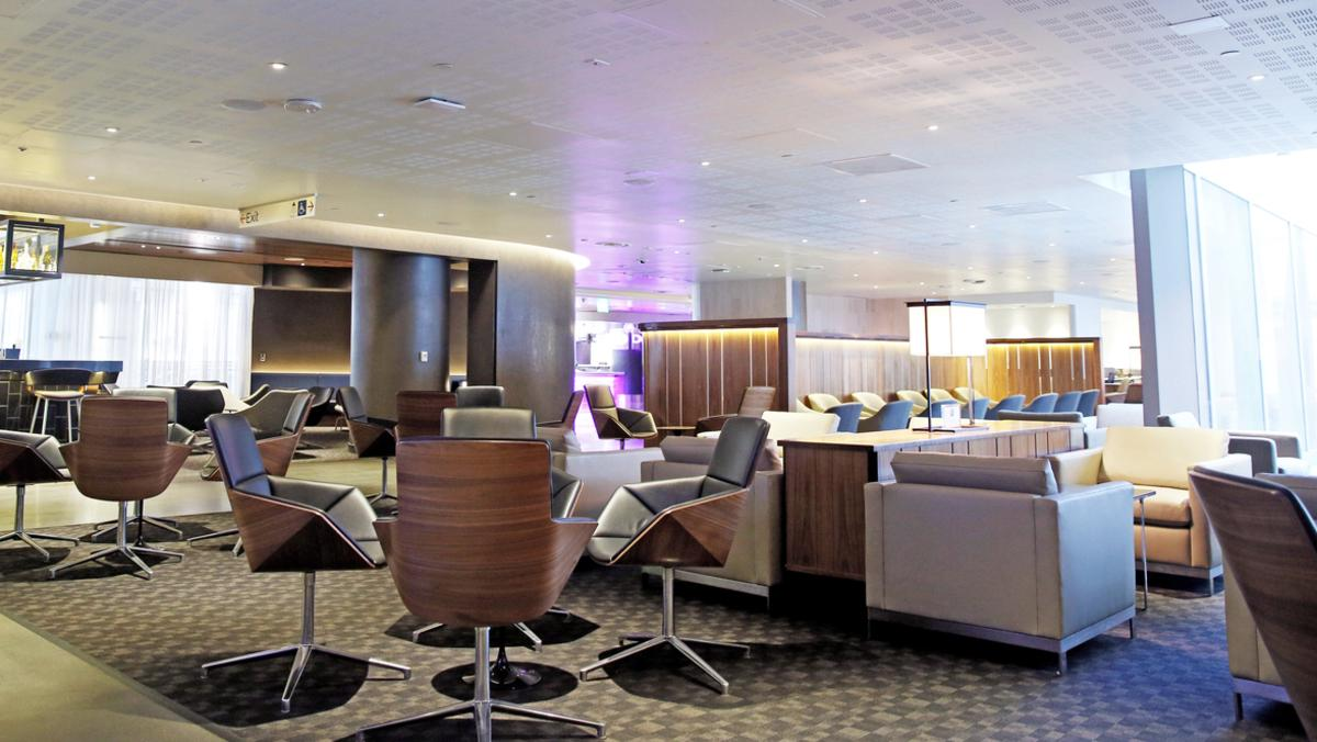 The Qantas business lounge extension at the Los Angeles International Airport. Picture: AP