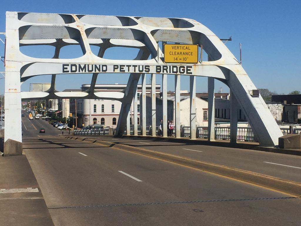 The bridge in Selma, Alabama, where protesters were brutally attacked by police in March 1965 as they marched for voting rights for African-Americans.